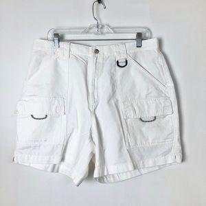 Columbia sportswear women's white cargo shorts